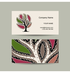 Business card template for your design Watercolot vector image