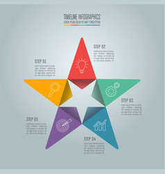 Business concept with 5 options steps or vector
