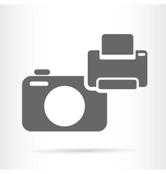 Camera and printer icon vector