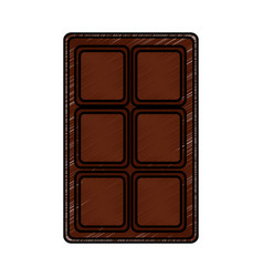 chocolate bar sweet block icon vector image