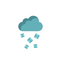 Cloud and hail icon in flat style vector