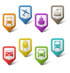 Colorful set pointers for transport vector