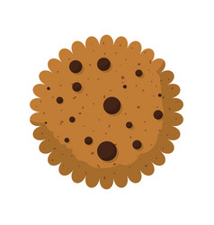 cookie snack dessert vector image