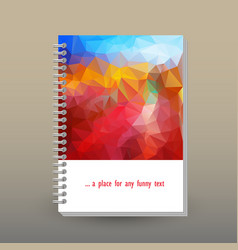 Cover of diary blue sky red landscape polygonal vector