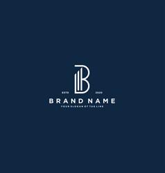 Creative letter b financial chart logo design vector