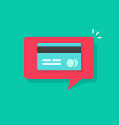 Credit or debit card required notification on vector
