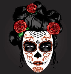 Day dead girl make up vector