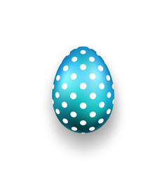 easter egg 3d icon cute blue egg isolated white vector image