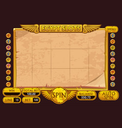 Egypt style casino slot machine game complete vector