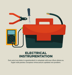 Electrical instrumentation for repairement works vector