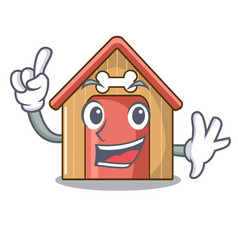 finger mascot dog house of wood home vector image