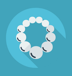 Flat modern design with shadow beads on a neck vector