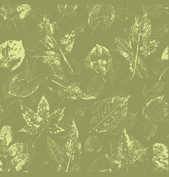 floral seamless background leaves vector image