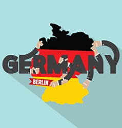 Germany Typography Design vector image