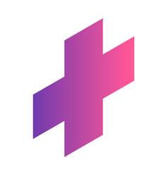 Gradient plus icon isometric style vector