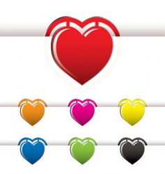 Heart book mark vector