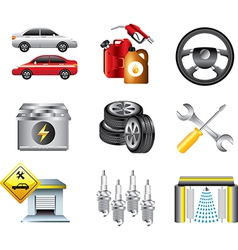icons petrol vector image