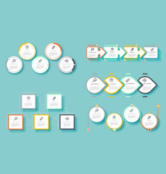 infographic technology process diagram vector image