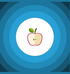 isolated jonagold flat icon fresh fruit vector image