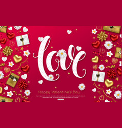 love background valentines day greeting card vector image