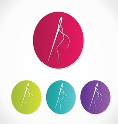 Needle icons vector