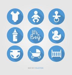 new baby boy logo set vector image