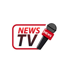 news tv logo design template vector image