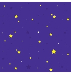 Night sky seamless cartoon pattern vector