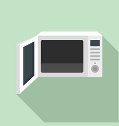 open microwave icon flat style vector image