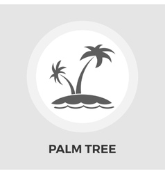 Palm Tree flat icon vector image