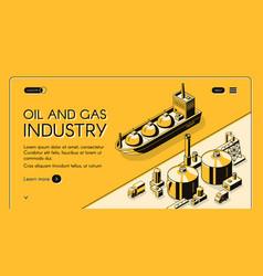Petroleum refining company website template vector