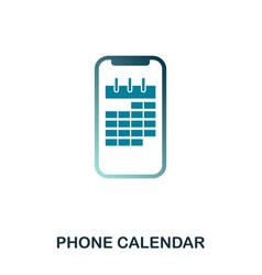 phone calendar icon flat style icon design ui vector image