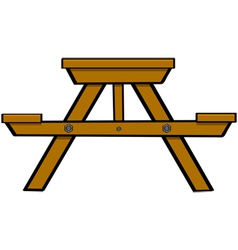 Picnic table vector image