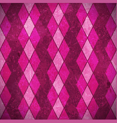 Pink purple rhombuses grunge background vector image