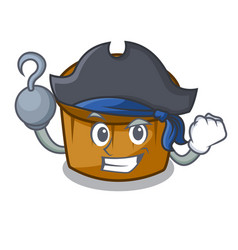 Pirate mufin blueberry character cartoon vector