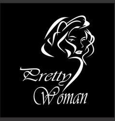 Prety woman vector