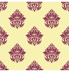 Purple and cream arabesque seamless pattern vector image