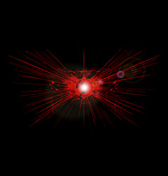 Red explosion vector
