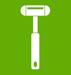 Reflex hammer icon green vector