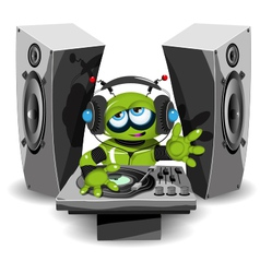 Robot DJ vector image