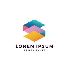 S letter paper art logo download vector