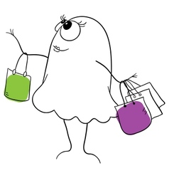 Shopper vector image