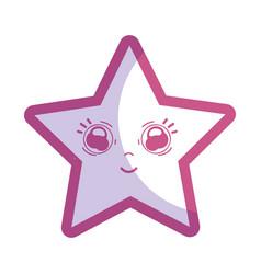 Silhouette kawaii happy and cute star design vector