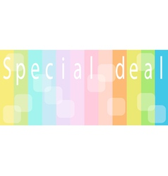 Special Deal Background for Special Price Products vector
