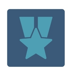 Star medal icon from Award Buttons OverColor Set vector