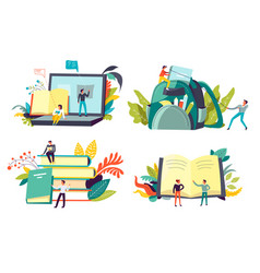students and education degree receiving vector image