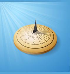 Sundial golden object vector