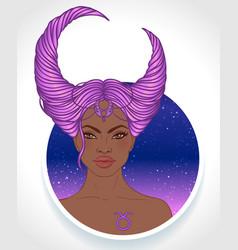 Taurus astrological sign vector