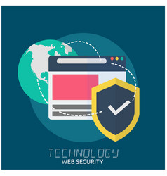 Technology web security earth security logo backgr vector