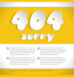 template with connection error 404 vector image